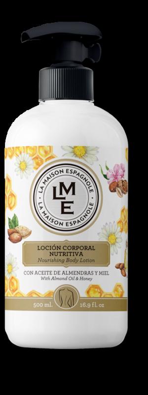 La Maison Espagnole | Cuidado Personal | Loción Corporal Nutritiva Almendras y Miel | Innovación y Creación de Fragancias y Cosmética| Magasalfa